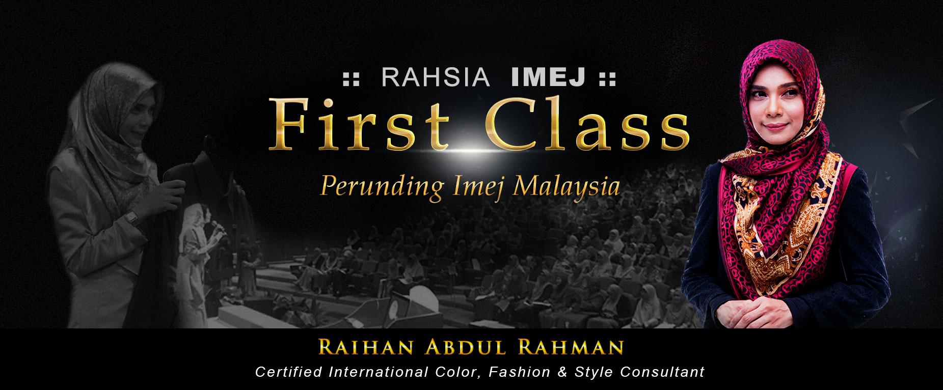 rahsia imej first class