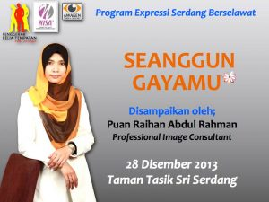 Seminar Seanggun Gayamu | NISA' & Penggerak Belia Tempatan | 28 Disember 2013 [ Read More ]
