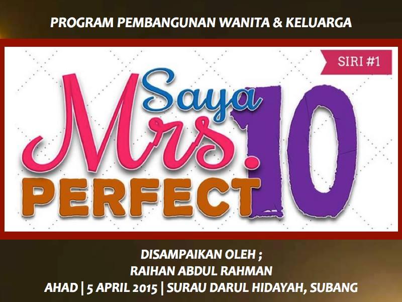 Saya Mrs Perfect 10 Siri 1