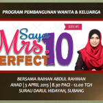 Saya Mrs Perfect 10 Siri 1| 5 April 2015 |Program Pembangunan Wanita & Keluarga