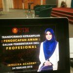 <b>Bengkel Transformasi Ketrampilan Pengucapan Awam UTM </b>Dalam Pembentukan Imej Profesional
