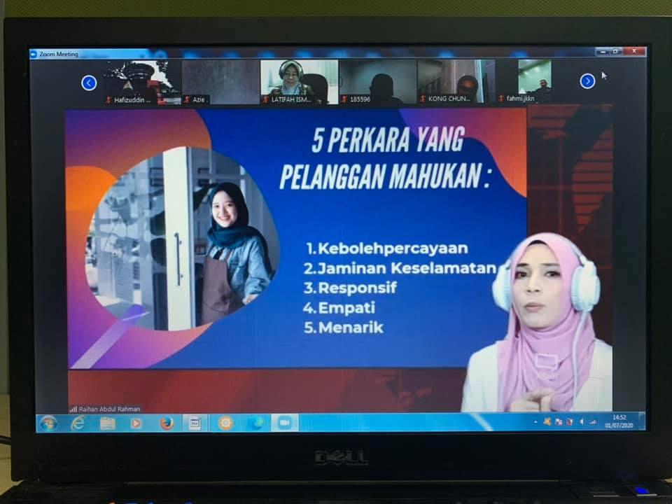 Kursus Online Perkhidmatan Pelanggan MOTAC - Kementerian Pelancongan, Seni Dan Budaya Malaysia pada 1 Julai 2020.