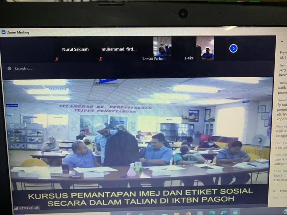 Semoga input daripada kursus ini mampu memberi panduan dan inspirasi yang jelas dalam memantapkan lagi imej dan keterampilan diri yang profesional buat kesemua warga kerja IKTBN Pagoh, in sha Allah.