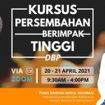 <b>Kursus Persembahan Berimpak Tinggi</b> Dewan Bahasa dan Pustaka pada 20 – 21 April 2021